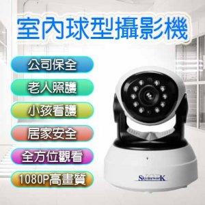 室內球型1080 300x300 - 室內球形攝影機 / 1080P