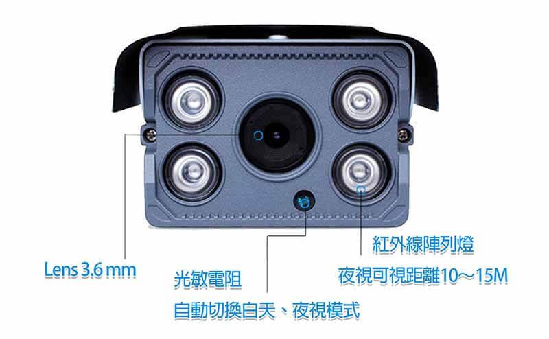 IPCAM LG 2 1 - 高解析度防水可錄影攝影機/720P