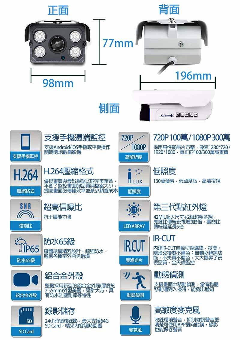 IPCAM LG 6 - 高解析度防水可錄影攝影機/720P
