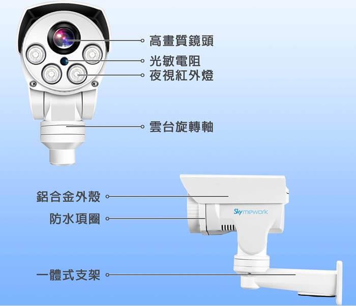 IPTZ 3 - 戶外防水5倍光學變焦雲台攝影機/1080P